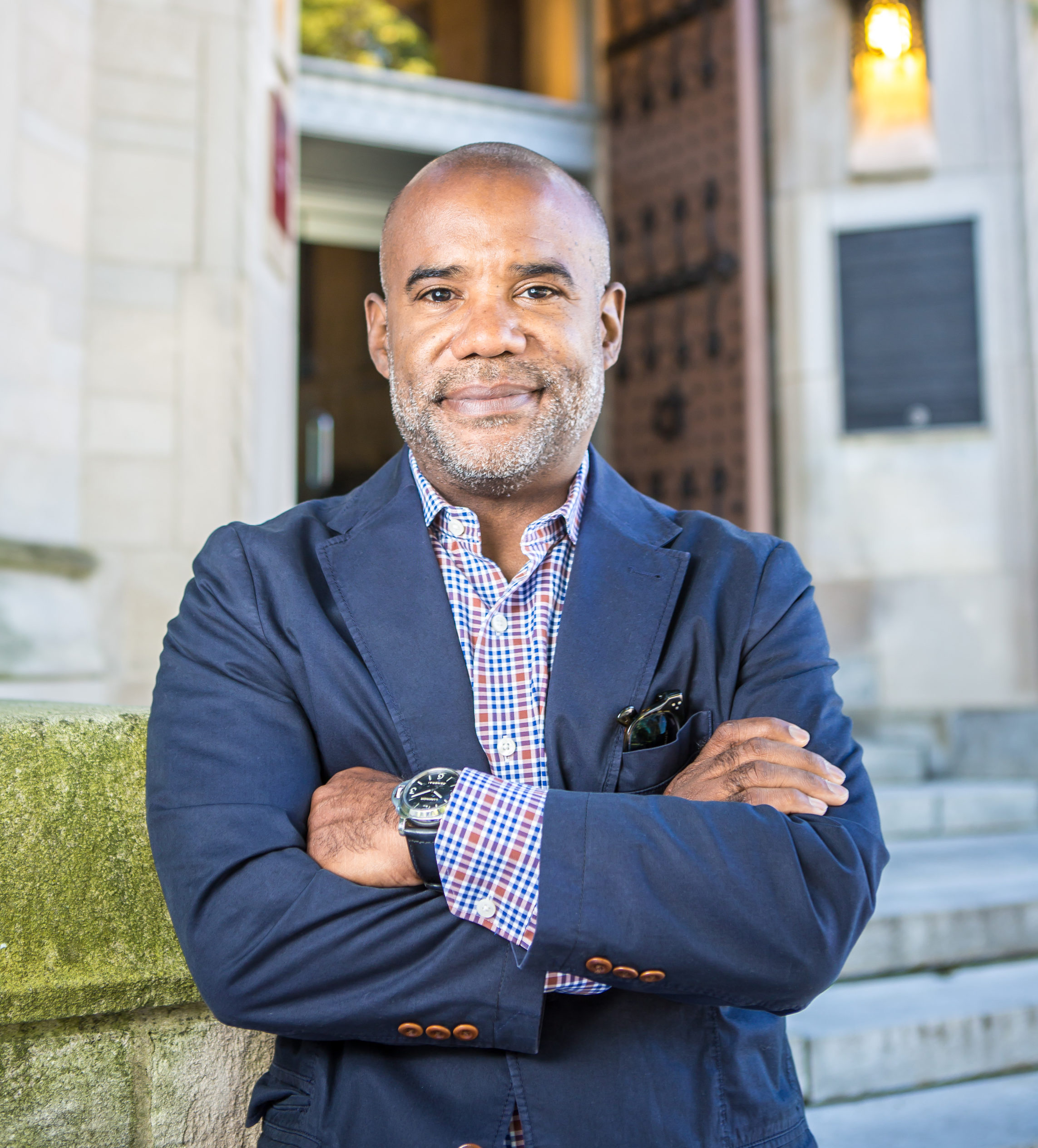 Portrait of Bryan Samuels, Executive Director of Chapin Hill, on Tuesday, August 23, 2016 at Chapin Hall on the University of Chicago campus. (Photo by Nancy Wong)