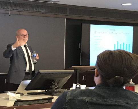 Fred Wulczyn lecturing
